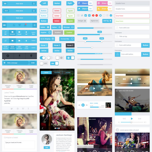 flat mobile ui kit