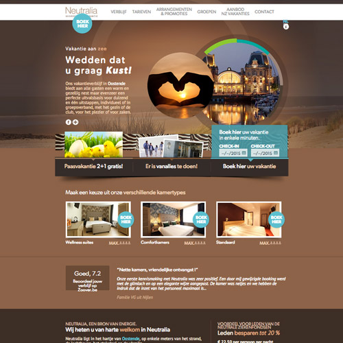 resort web design