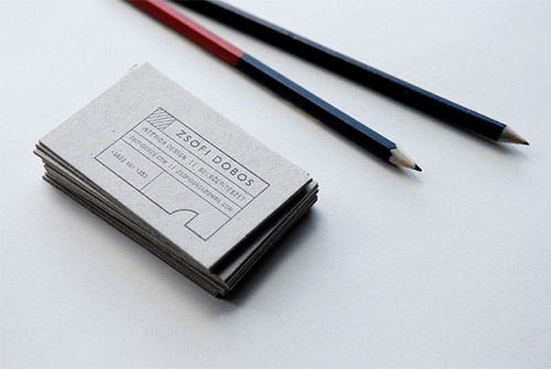 dyi architect business card