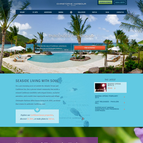 harbor resort website design