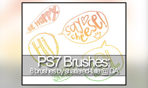 ps brushes speech bubbles