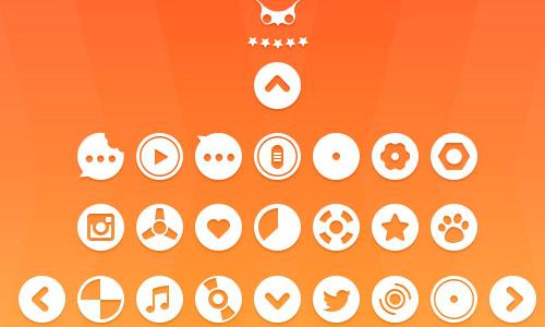 psd circular icons