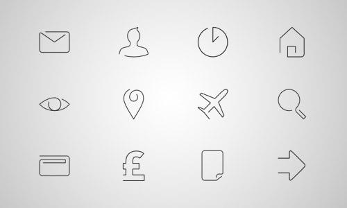 free thin line icons