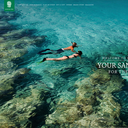 banyan resort website design