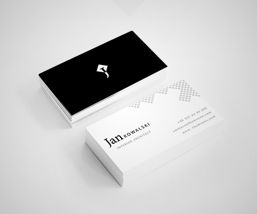 clean architect business card