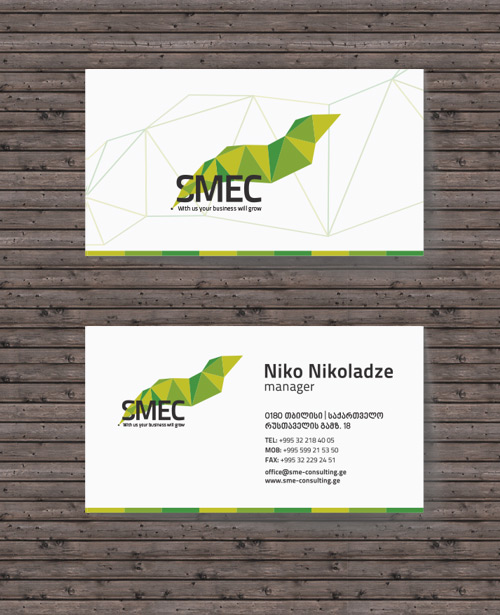 corporate low poly business card