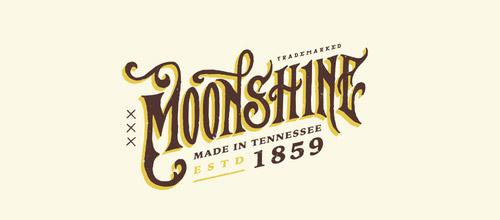 vintage logo moonshine