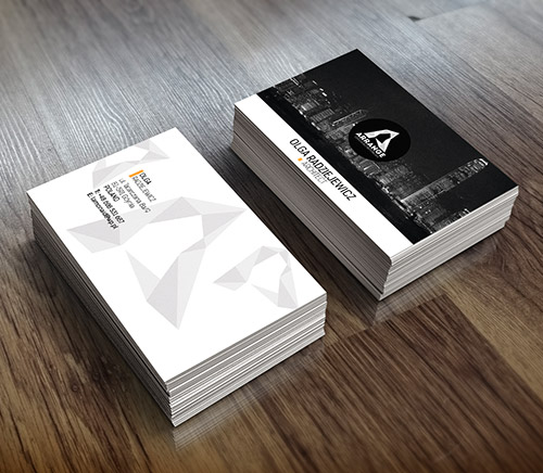 arrange business card design