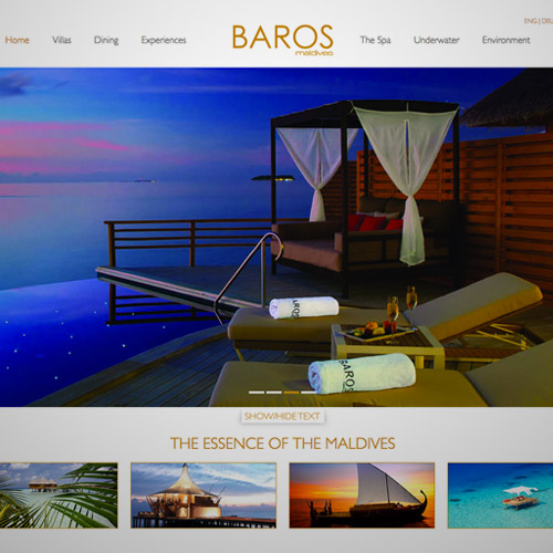 baros resort web design
