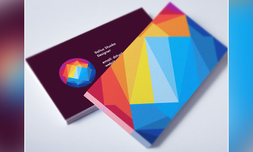 colorful lowpoly business card