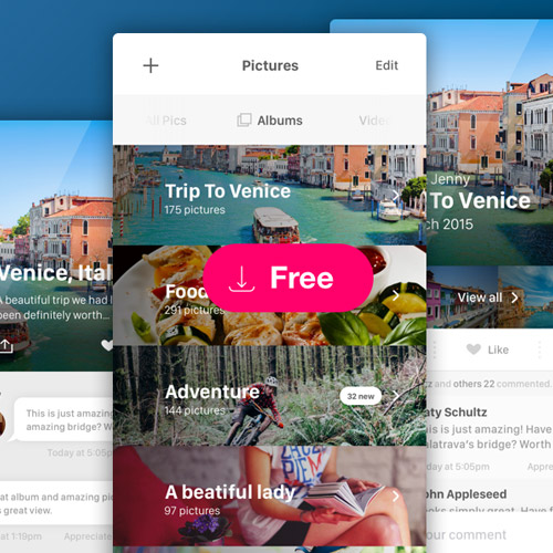 picture viewer mobile ui kit