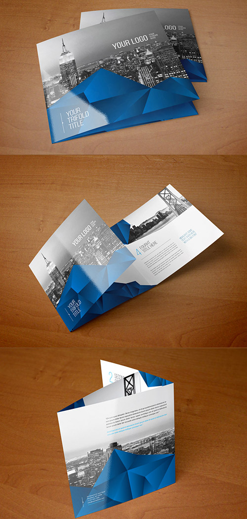 blue square brochure