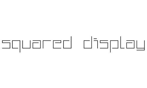 free squared fonts