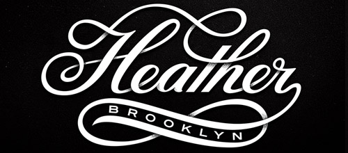 heather script overlap logo