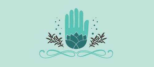 massage lotus logo