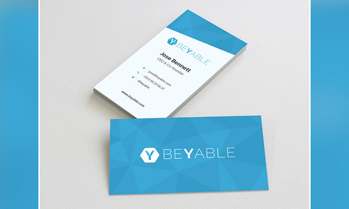 clean low poly business card