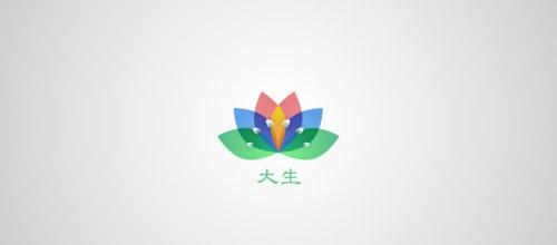 colorful logo lotus