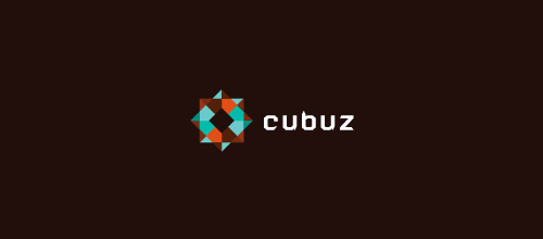 cube low poly logo