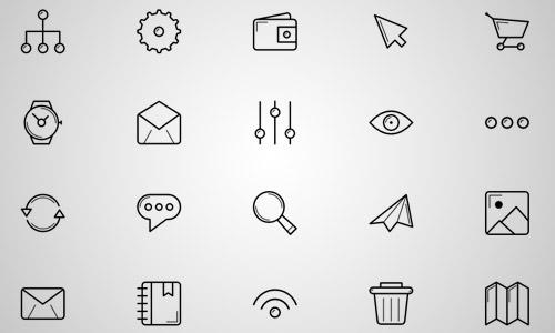 elegant line icons