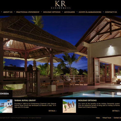 hotels resort web design