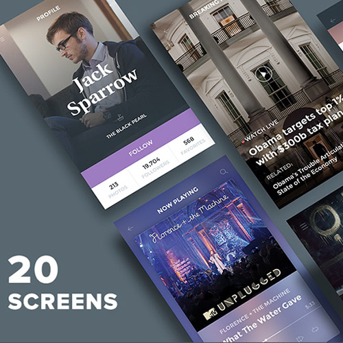 mobile ui kit free