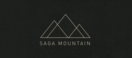 mountain thin line logo