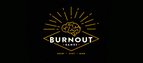 burnout games thin line logo