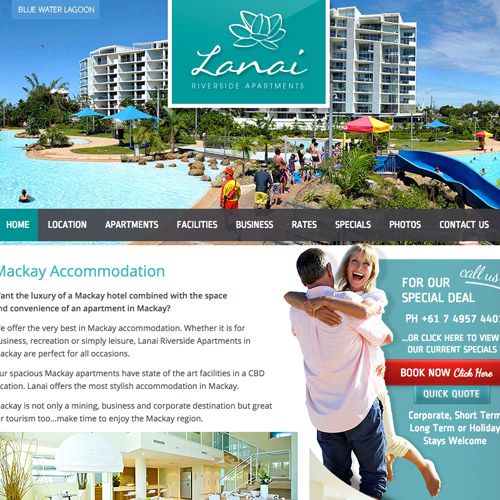 lanai resort web design
