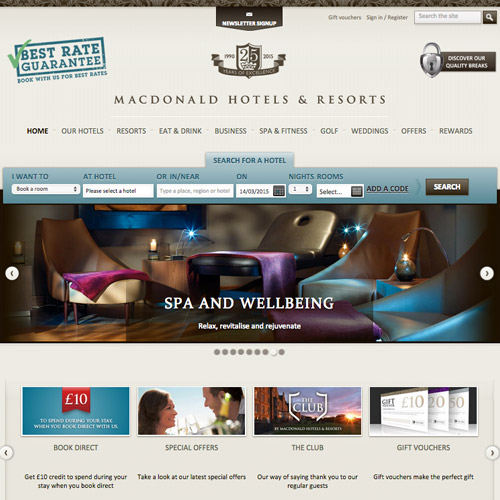 hotels resorts web design