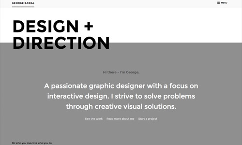 badea design grey website