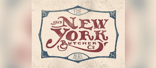 butcher vintage logo