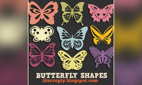 free custom shapes buterfly