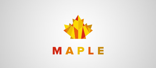maple low poly logo
