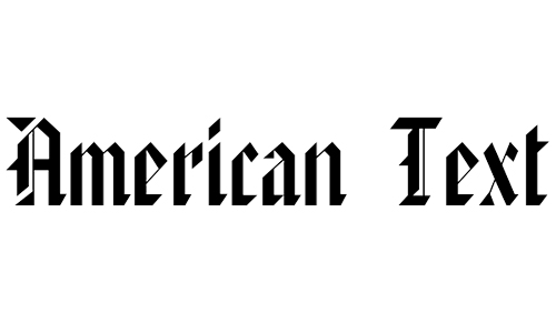 American blackletter fonts