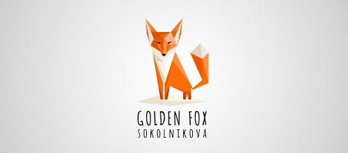 fox lowpoly logo