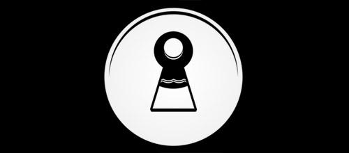 keyhole logo design
