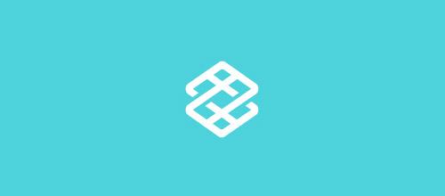 minimalist overlap logo