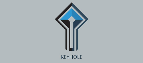 keyhole minimalist logo