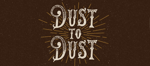 dust vintage logo design