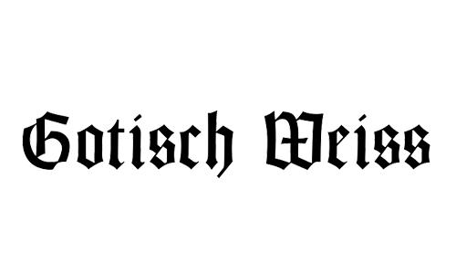 blackletter goth font