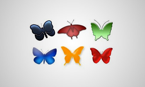 butterfly custom shapes free