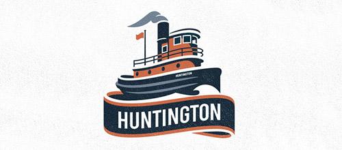 Huntington logo vintage
