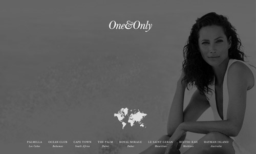 resort grey web design