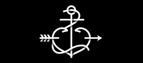anchor heart overlapped logo