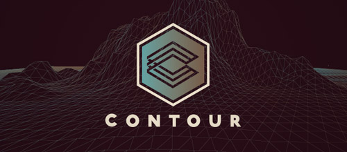 contour hexagon logo