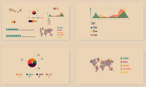 infographics shapes elements