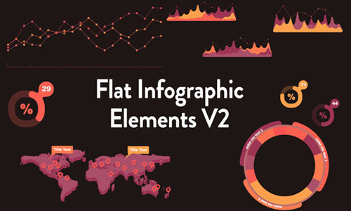 flat infogrpahics elements