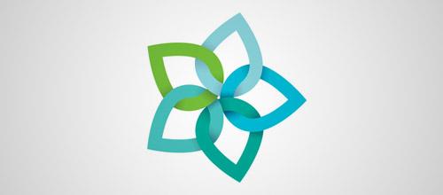 flower overlap logo