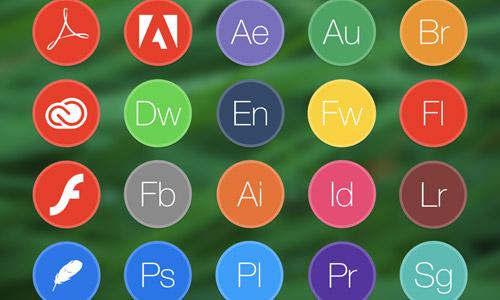 free adobe circle icons