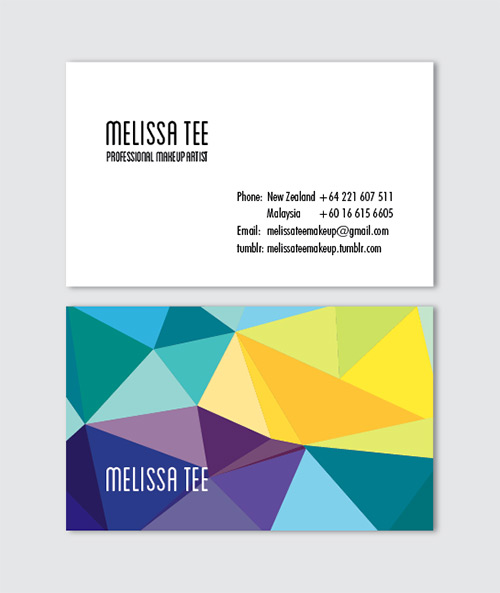 geometric low poly business card